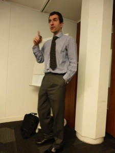Professor lecturing on the research that BHF helps fund.