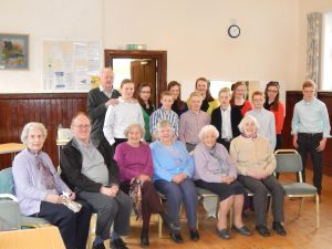 A group of young persons from the local Plymouth Brethren Christian Church provided the midday meal for some 25 4SIGHT members at their weekly social gathering, to put their school Food & Nutrition lessons to positive practical use