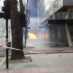 3. Fire bursting through manhole