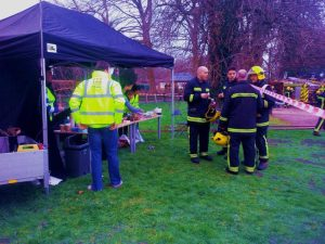 They cleared the house and very little was lost.  An unusually high number of breathing apparatus sets were used due to the high smoke levels, adding more discomfort to the task.