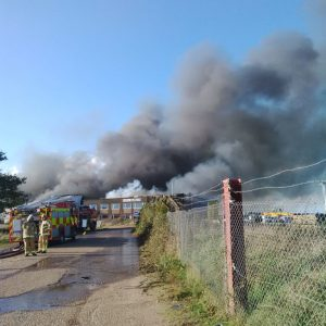 2 members of Walpole's staff were at the North Pickenham depot of Walpole Transport, and were coming off their morning coffee break when the fire was spotted.