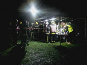 An hour later, bacon rolls were still in great demand and the team continued to serve with smiling faces – many firecrews commented on the willingness to help and expressed sincere gratitude for the efforts of the RRT
