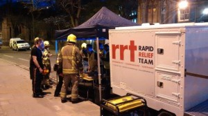 RRT worked through the night providing refreshments to the weary crews