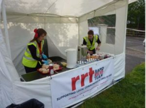 RRT Tent at the ready