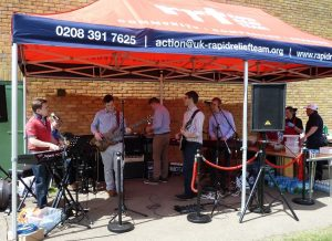 The Live Band in Full Swing