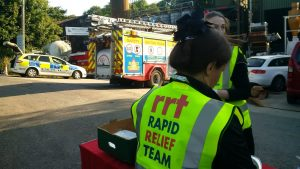 RRT on site at Bosley Mill Fire