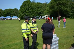 Water for the police at site