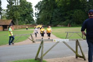 RRT route marshals guide walkers through the Sandringham Estate.