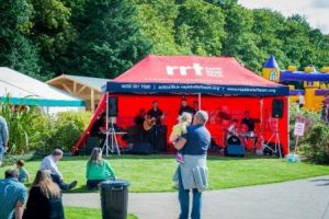 RRT live band entertaining the visitors