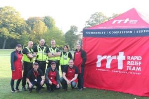 Derbyshire Police with some of the night-shift RRT team early Friday 9th October