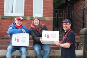 Young people very glad to receive Food Boxes from RRT volunteers