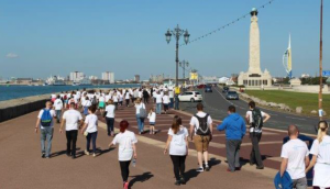The Alzheimers Memory Walk passed the landmarks that Portsmouth is famous for