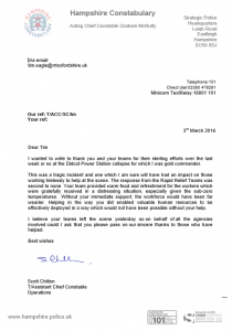 Didcot Thank You Letter