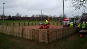 RRT Bournemouth French Boules Pitch 20170225 Final stages of the Boules pitches