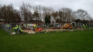 RRT Bournemouth French Boules Pitch 20170225 Work is now well underway