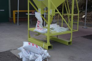 Sandbagger Machine 032017 RRT Taunton Previously RRT Had been filling sandbags by hand during flood events