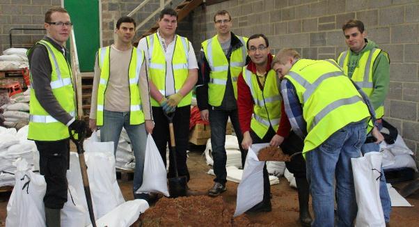 Plymouth Brethren help in Taunton Floods