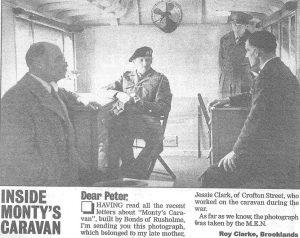 Inside Monty's Caravan