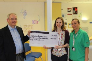 PBCC member Mr Fowler, hands over the cheque to the NCH