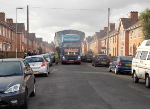 (6)Narrow streets en route to Bridgwater Docks