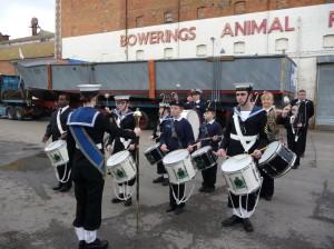 (7)Bridgwater Sea Cadet's start the launch ceremony