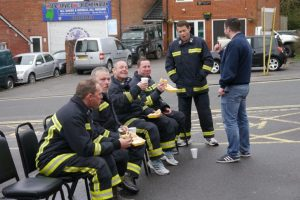 Firefighters from several stations over Portsmouth organised the sponsored walk to raise money for The Fire Fighters Charity and Football for Cancer