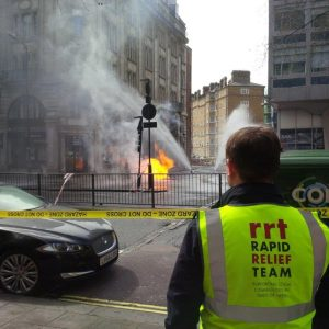 RRT support at Holborn Electricity Fire