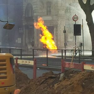 Underground Fire at London, Holborn.