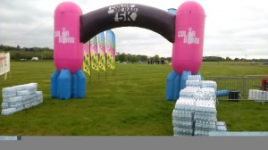 All set up ready for the runners!
