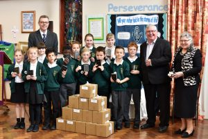 On Friday, Brethren visited Bishop Tufnell CE Junior School in Felpham to donate a free Bible to every child in the school of 360 pupils aged from 7 to 11.