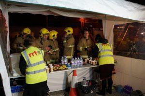 RRT Serving the hungry firemen