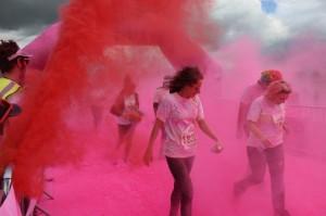 Pink bombs away