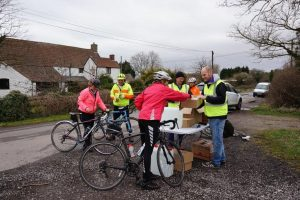 The food stations were a hit with the cyclists