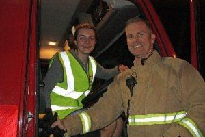 RRT get shown around a fire engine!