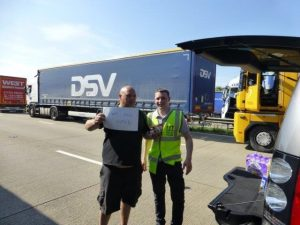 One hungry lorry driver…