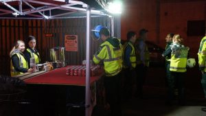 The busy RRT Tent at the Fire