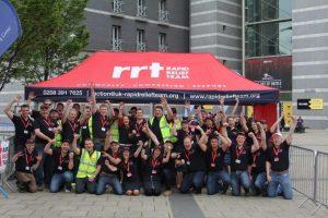 The enthusiastic RRT team