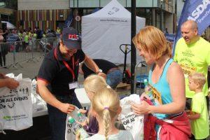 RRT handed out goodie bags to all the children