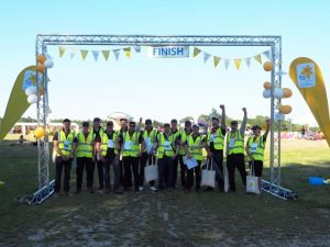 Enthusiastic RRT volunteers at the finish line!