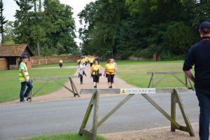 RRT route marshals guide walkers through the Sandringham Estate.