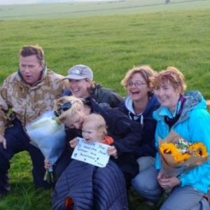 Happy walkers and children – what an achievement!