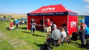 The RRT tent – a refreshing sight for the determined walkers