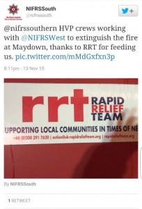 Crews recognise RRT on social media