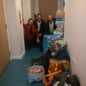 RRT with some of the helpers at the homeless centre