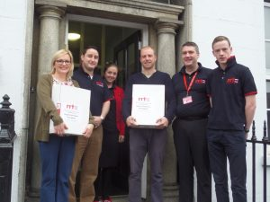 Warrenpoint RRT hand over the food boxes for homeless
