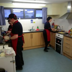RRT busy in the kitchen
