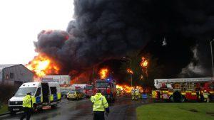 The scene of the Stafford blaze