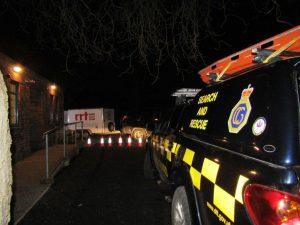 East Coast Storm Surge RRT Aldeburgh 20170113 RRT trailer and the Coastguards