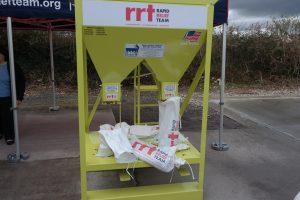 Sandbagger Machine 032017 RRT Taunton The machine can produce up to 500 filled sandbags per hour